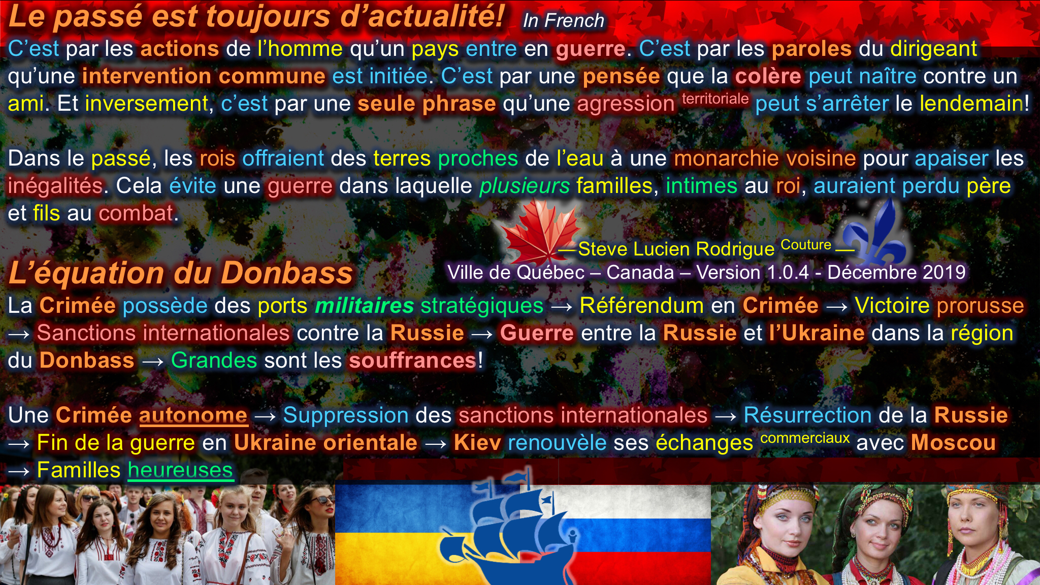 The Donbass Equation in French